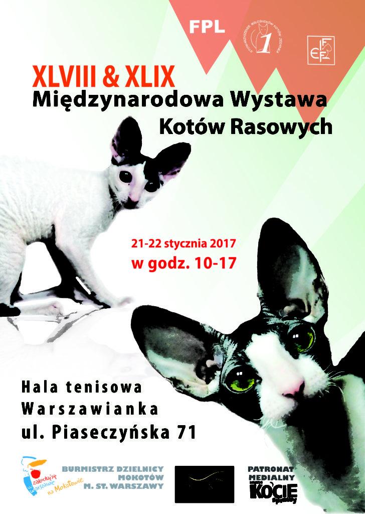 Międzynarodowa Wystawa Kotów Rasowych – 21-22.01.2017 – Warszawa