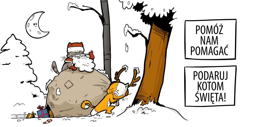 Pomóż nam pomagać. Podaruj kotom święta!