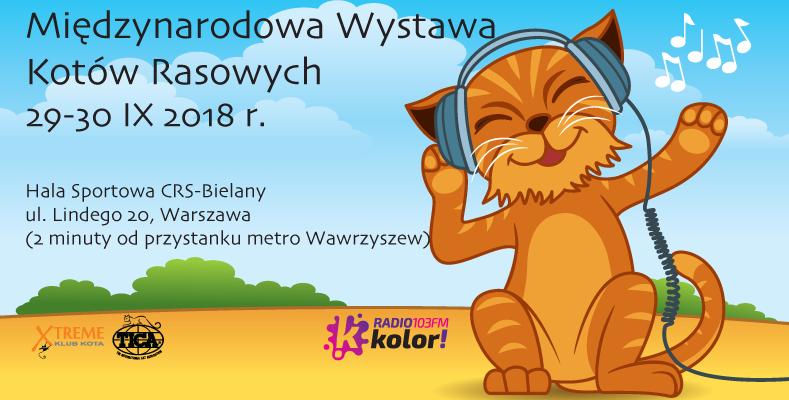 Międzynarodowa Wystawa Kotów Rasowych (+ targi zoologiczne) 29-30 września 2018, Hala Sportowa CRS-Bielany