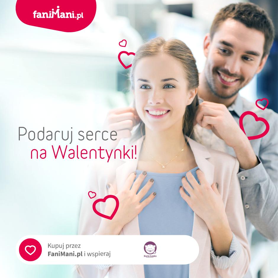 Podaruj serce na Walentynki. Wspieraj Kocią Łapkę przez FaniMani.pl!
