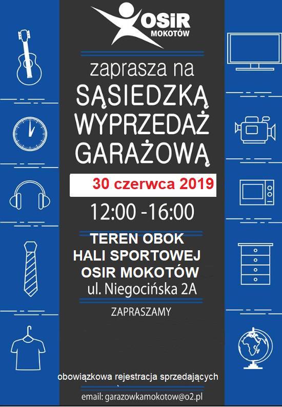 Wyprzedaż Garażowa na Mokotowie – 30 VI 2019