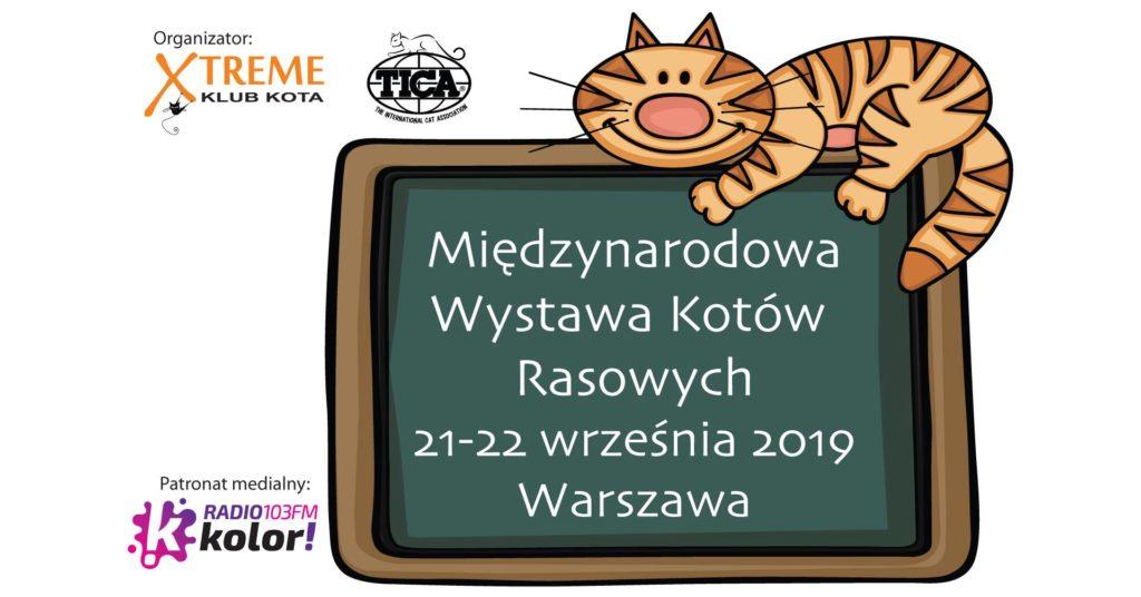Wystawa kotów – Hala Sportowa CRS-Bielany – charytatywne stoisko – 21-22 września 2019 r.
